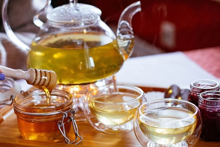 Benefits of green tea and honey